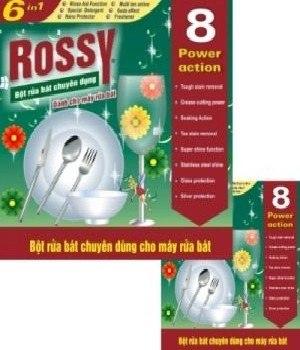 Bán buôn bột rửa chén Rossy chuyên dùng cho máy rửa chén gia đình
