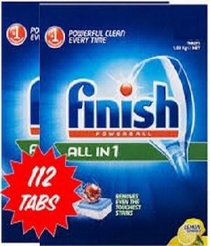 Viên rửa bát Finish 112 viên dành riêng cho máy rửa bát gia đình