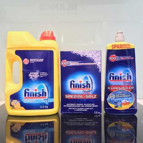 Combo bột rửa bát finish 2,5kg + muối làm mềm nước 1,2kg + nước làm bóng 1150ml hàng chính hãng