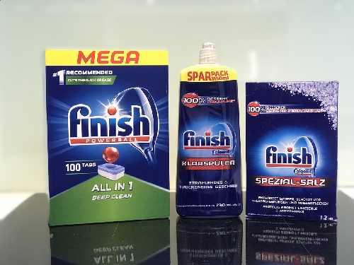 Combo viên rửa bát finish + Muối finish 1,2kg + nước làm bóng finish 1150ml nhập khẩu chính hãng đức