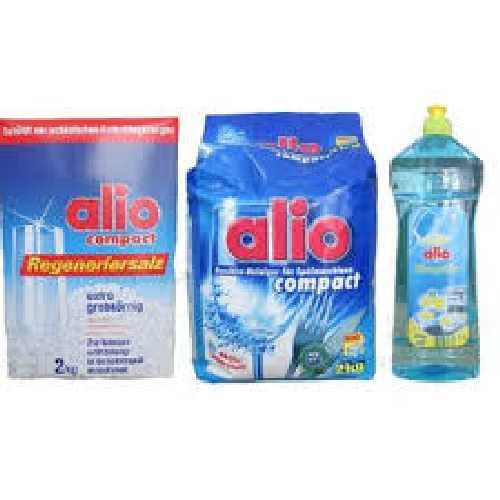 Bộ rửa bát alio bột muối và nước làm bóng chuyên dùng cho máy rửa bát