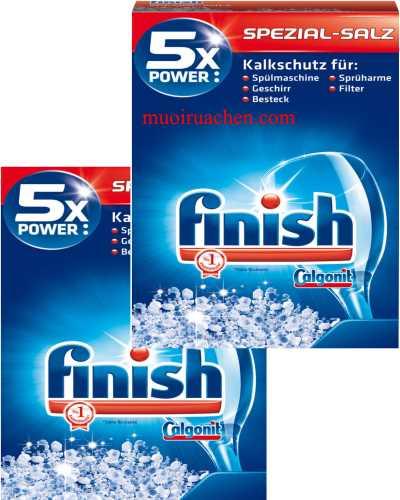 Muối rửa chén finish nhập khẩu chính hãng từ Đức loại 2,4kg
