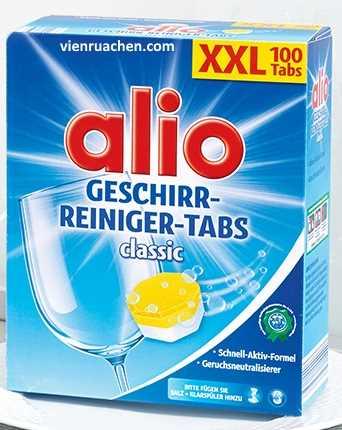 Viên rửa chén alio Clasisc Geschirr Reiniger 100 Tabs XXL