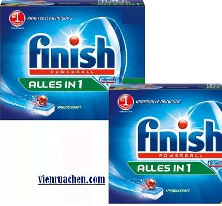 viên rửa chén Finish all in one made in EU loại 104 viên