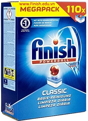 xà phòng rửa bát finish dùng cho máy rửa bát chén loại 110 viên nhập khẩu châu âu