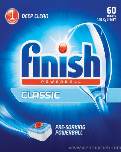 viên rửa bát finish classic 60 viên nhập khẩu từ châu âu