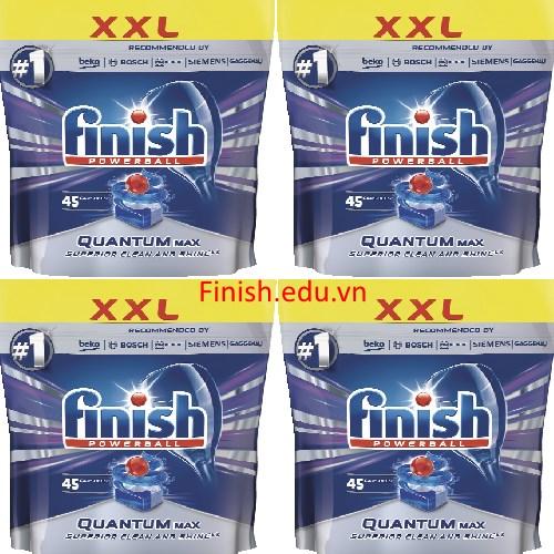 viên rửa bát finish quantum max 180 viên
