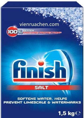 muối rửa chén finish 1,5kg dùng làm mềm nước cho máy rửa bát chén
