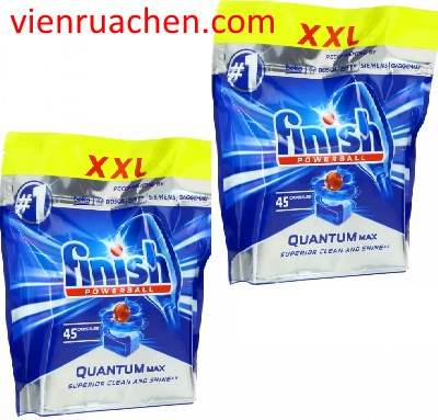 viên rửa bát finish quantum max 90 viên nhập khẩu chính hãng từ châu âu