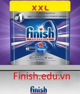 viên rửa chén finish quantum max 45 viên dùng cho máy rửa bát chén