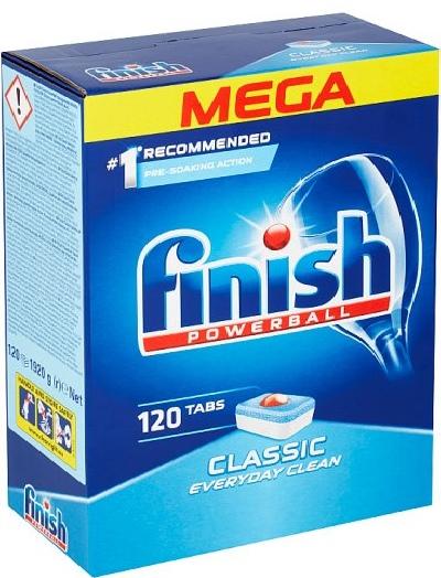 Viên rửa chén Finish Mega 120 viên nhập khẩu từ châu âu